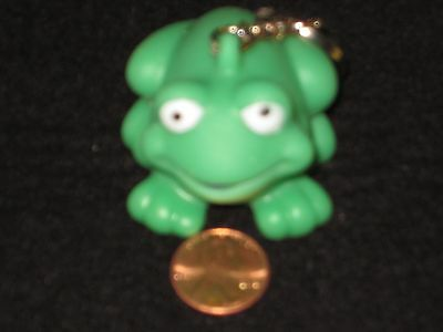 Soccer Ball or Frog Key Chain - Soft Rubber, Sports, Green Frog, Squishy, Cute!