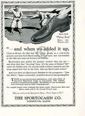 1925 Sportocasin Golf Shoes AD Yarmouth Maine Piping Rock Father Son Moccasin