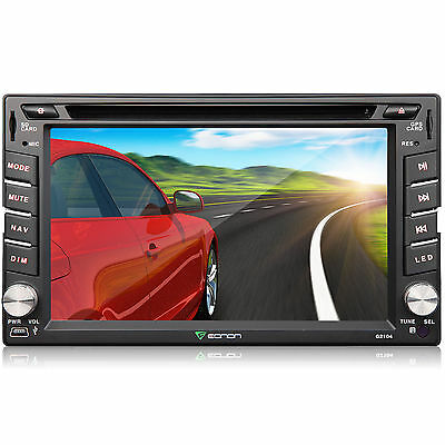 """Eonon 6.2"""" Double DIN 2DIN Car DVD Player GPS NAV Bluetooth Touch Stereo SWC"""