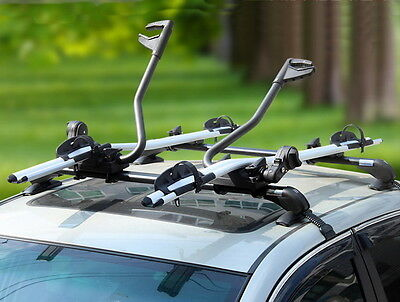 Aluminium Alloy Roof Rack Mounted Frame Holding Bike Bicycle Carrier Lockable
