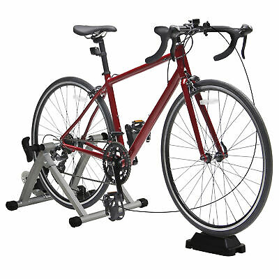 Indoor Magnetic Bike Bicycle Trainer Stand 5 Level Resistance Silver