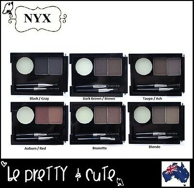 NYX EYEBROW CAKE POWDER KIT Black Brown Taupe Ash Auburn Brunette Blonde ECP