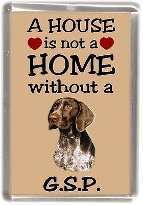 "German Shorthaired Pointer Fridge Magnet ""A HOUSE IS NOT A HOME"" by Starprint"