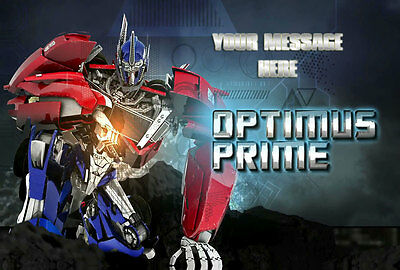 Transformers Prime Personalised Edible Icing Custom Cake Decoration Topper Image
