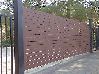CONTEMPORARY DRIVEWAY GATE CUSTOM MODERN METAL ART GARDEN WROUGHT IRON 12 FT