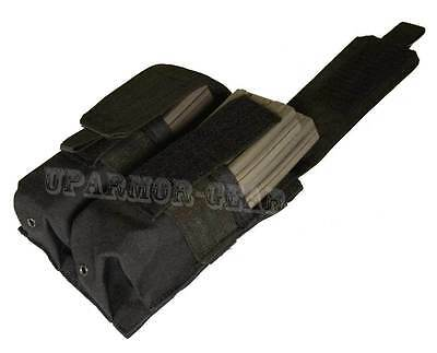 MOLLE PALS Double 5.56 mm Rifle Mag Pouch close flap BLACK (CONDOR MA4)