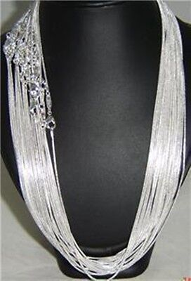 """20pcs lots x Silver Plated  Wholesale Snake Chain Necklace 1.2mm 22"""" Length"""
