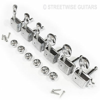 Guitar Machine Heads Tuners Strat / Tele / Kluson Replacement  Chrome screws