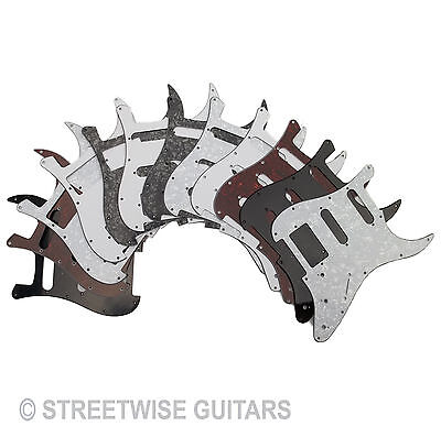Pickguard Scratchplate For Strat Style Guitar Choice of Colour screws SSS SSH HH