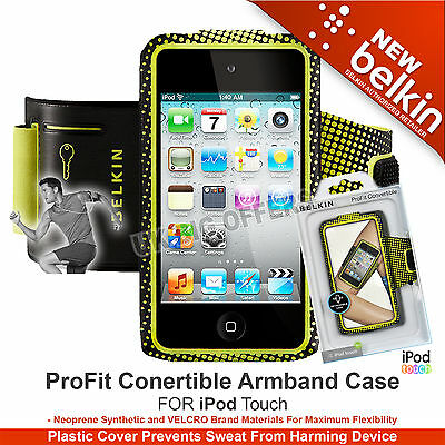 Belkin Neoprene Pro-Fit Convertible Armband for iPod Touch 4G Black detachable