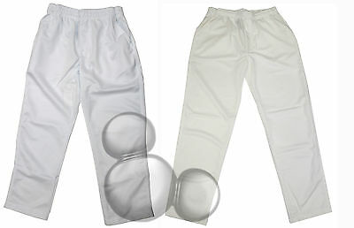 Cricket Pants White & Cream Size S M L XL 2XL 3XL 4XL New Adults Mens!