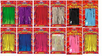 Tinsel Shimmer Foil Door Curtain Birthday Party Decorations 8 Colours