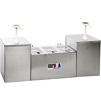 5-Section Condiment Holder & Dispenser, 2 Pump, 3 Well Concession Station System