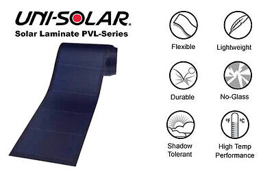 SOLAR Flexible Roof Panel PVL-128 watt Uni-Solar