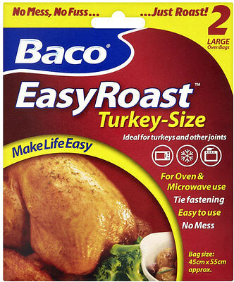 Turkey Size Large Oven Bag Roast Easy Roasting Bags Joint Cooking Baco Microwave