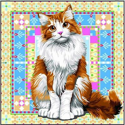 SEG de Paris Tapestry/Needlepoint Canvas – Persian Cat (Persan)