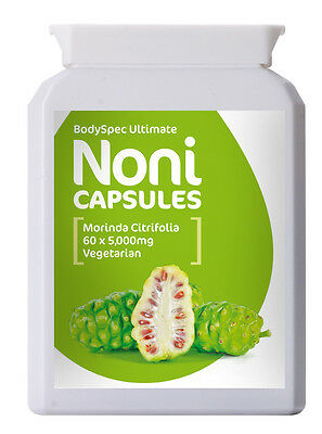 Noni Fruit Extract, 60 x 5000mg Capsules, BodySpec Ultimate - RRP: £11.95