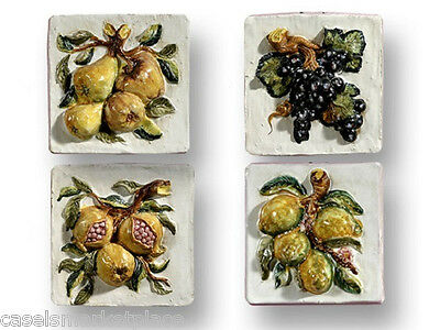 Intrada Italian Ceramic 3-D Fruit Wall Plaques Sold Separately Made in Italy
