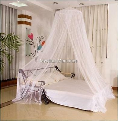 Hot Pink, White  or Cream King Size Mosquito Net Bed Canopy Gorgeous NEW