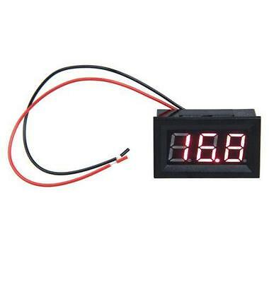 LED 12v 24v BATTERY VOLT VOLTAGE METER MONITOR DISPLAY PANEL MOUNT CAR VAN BOAT