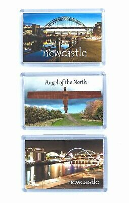 3x Newcastle Fridge magnets, Tyne Bridge, Angel of the North, Newcastle Bridges