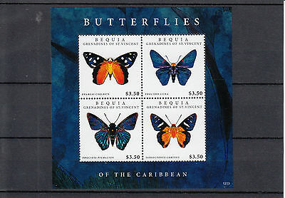 Bequia Grenadines St Vincent 2012 MNH Butterflies of Caribbean 1v M/S Phareas