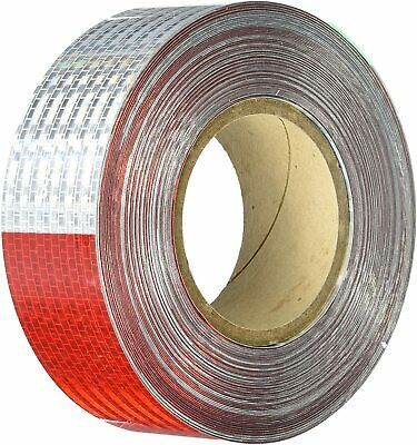 "150 Ft Conspicuity Reflective Tape DOT Approved 11"" Red 7"" White 150 Feet"