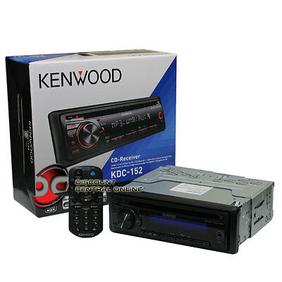 KENWOOD KDC-152 CAR MP3WMA CD PLAYER WITH REMOTE & FRONT AUX IN