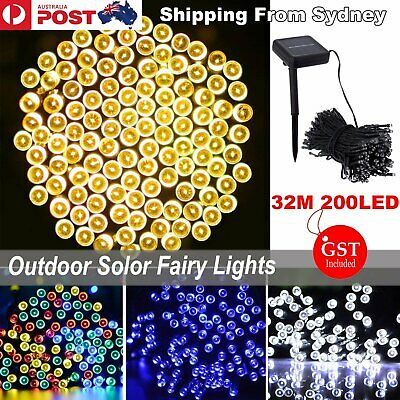 32M 200LED Solar Powered Fairy Lights String Waterproof Christmas Decoration
