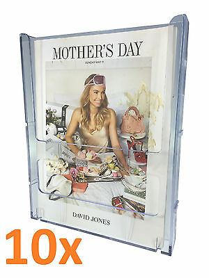 10x A4 Wall Mounted  Brochure Holder Lockable