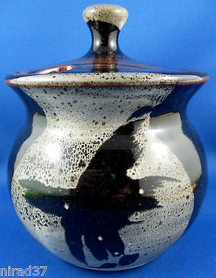 STAMPED Unusual POTTERY Sugar Bowl with Lid NEW Never Used Collectable - In Aust