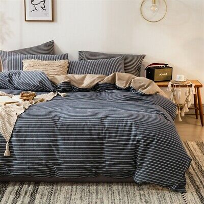 Doona Duvet Quilt Cover Set Single/Double/Queen/King Size Bed Flat/Fitted Sheet