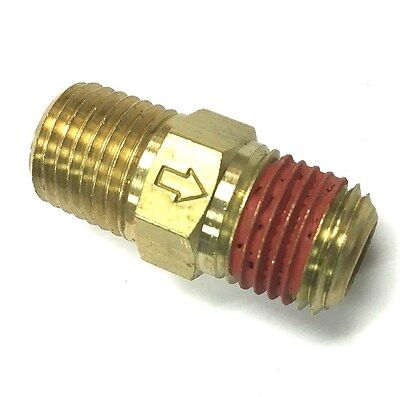 "M2525 In Line Brass Ball Check Valve 1/4"" X 1/4"" Mpt"