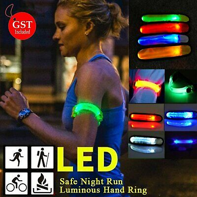 Safety Led Armband Glow V2 Reflective Hiking Running Belt Biking Jogging Arm