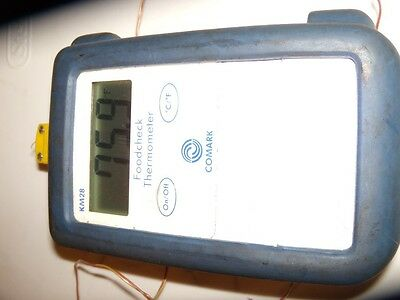 """Comark KM28/P13 Digital Thermocouple Thermometer """" Working & Calibrated""""."""