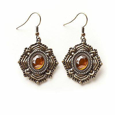 Demdaco Kelly Rae Roberts Fashion Medallion Vintage Earrings Costume Jewelry NEW