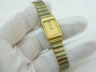 """SEIKO,""""Classic Rectangle Gold Dial"""",GP Link,LADIES WATCH,610,L@@K"""