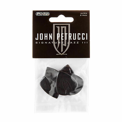 6 x John Petrucci Jazz 3 Ultex Black Guitar Picks 1.5mm Jazz III