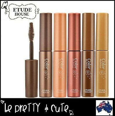 ETUDE HOUSE COLOR MY BROWS Eyebrow Gel Brow Mascara Rich Light Red Blonde Brown