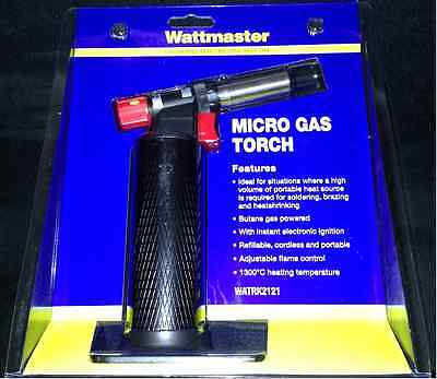 Heat Gun Butane Professional Electrician Micro Gas Torch 1300° Creme Brulee NEW