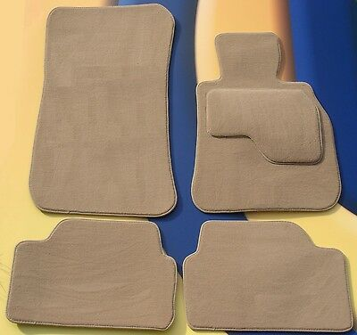 BMW X5 E53 2000 - 2006  RHD QUALITY SET OF 4 BEIGE CAR FLOOR MATS WITH 4 x  PADS