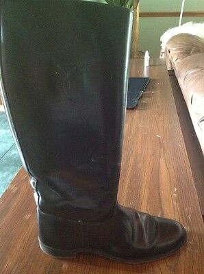 Black Leather Women Equestrian Riding Boots