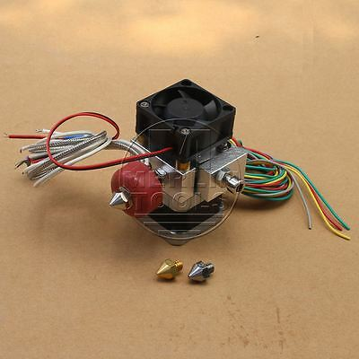 Extruder Print Head with 0.2mm/0.3mm/0.4mm Nozzles for 3D Printer Feed ABS PLA