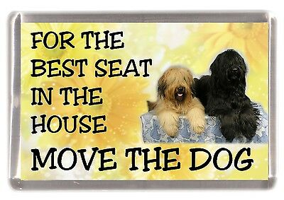 "Briard Dog Fridge Magnet  ""For the Best Seat ......."" by Starprint"
