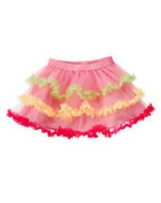 GYMBOREE MISS MOUSE PINK TIERED KNIT TULLE SKIRT 3 6 12 18 NWT