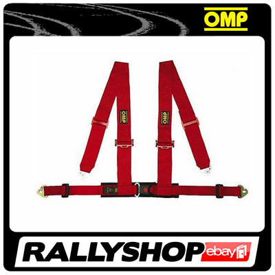 OMP 4 M Point Harness Road Red ECE, CHEAP DELIVERY WORLDWIDE!!! Harness Belts