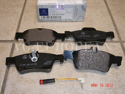 Mercedes W221 S-Class Genuine Rear Brake Pad Set,Pads w/Sensor S550 S400 S600 OE