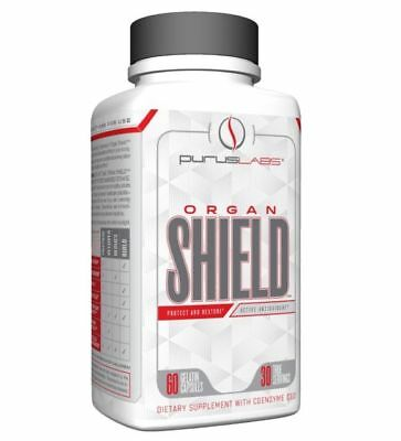 Purus Labs Organ Shield LIVER + PROSTATE + HEART Support, 60 Capsules - NEW