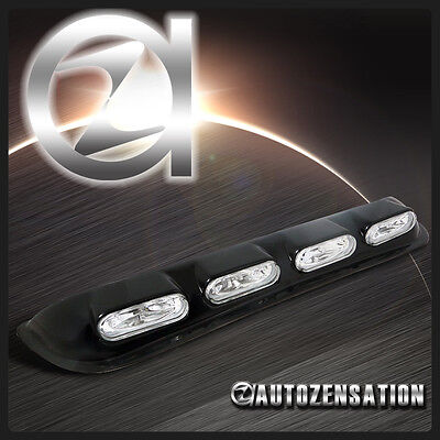 Oval Style Off Road 4x4 Roof Top Fog Lights Bar Driving Lamp+H3 Bulbs+Switch