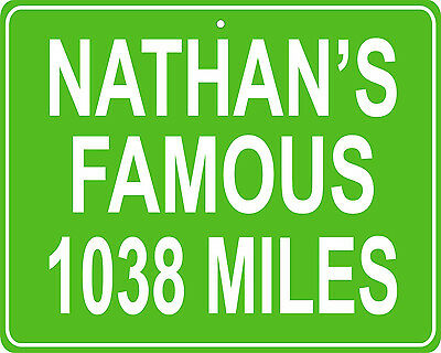 Nathan's Famous hotdog eating contest Coney Island, NY mileage sign your house